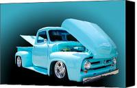 Truck Canvas Prints - Baby Blue Canvas Print by Jim  Hatch