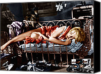 Films By Elia Kazan Canvas Prints - Baby Doll, Carroll Baker, 1956 Canvas Print by Everett