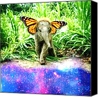 Teg Canvas Prints - Baby Elephly 2 Canvas Print by Casi Wonderland