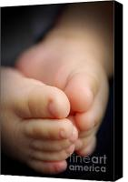 Conception Canvas Prints - Baby feet Canvas Print by Carlos Caetano