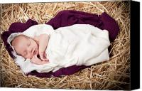 Son Canvas Prints - Baby Jesus Nativity Canvas Print by Cindy Singleton