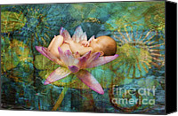 Lotus Art Canvas Prints - Baby Lotus Dreams Canvas Print by MiMi  Photography