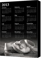 Foot Canvas Prints - Baby shoes calendar 2013 Canvas Print by Jane Rix