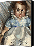 Doll Canvas Prints - Baby Canvas Print by Tommervik