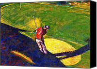 Arizona Golfer Canvas Prints - Babyboomer Golfing Canvas Print by Ion vincent DAnu