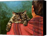 Tabby Painting Canvas Prints - Babyface Canvas Print by Pat Burns
