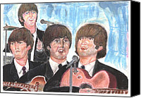 Beatles Pastels Canvas Prints - Babys in black Canvas Print by Moshe Liron