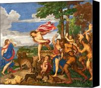 Bacchus Canvas Prints - Bacchus and Ariadne Canvas Print by Titian