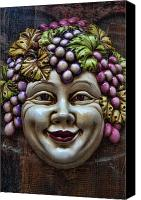 Red Lips Canvas Prints - Bacchus God of Wine Canvas Print by David Smith