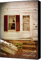 Dilapidated House Canvas Prints - Back Door of Old Farmhouse Canvas Print by Jill Battaglia