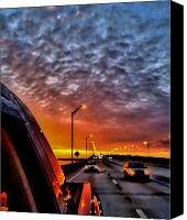Florida Bridge Photo Canvas Prints - Back Door Canvas Print by William Jones