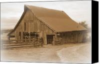 Farming Barns Canvas Prints - Back in Time Canvas Print by Kathy Sampson