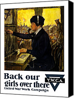 Campaign Canvas Prints - Back Our Girls Over There Canvas Print by War Is Hell Store
