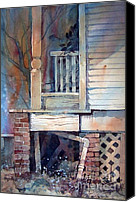 Mjonesart Canvas Prints - Back Porch Canvas Print by Micheal Jones