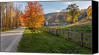 Fence Canvas Prints - Back Roads Canvas Print by Bill  Wakeley