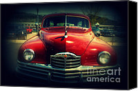 Auction Canvas Prints - Back To The Future Packard Canvas Print by Susanne Van Hulst
