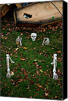 Haunted House Canvas Prints - Back Yard Bone Yard Canvas Print by LeeAnn McLaneGoetz McLaneGoetzStudioLLCcom