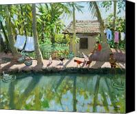 Humble Canvas Prints - Backwaters India  Canvas Print by Andrew Macara