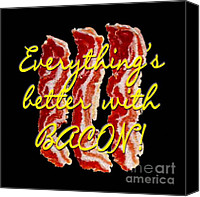 2hivelys Art Canvas Prints - Bacon Canvas Print by Methune Hively