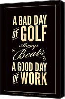 Golfing Canvas Prints - Bad Day of Golf Canvas Print by Mark Brown