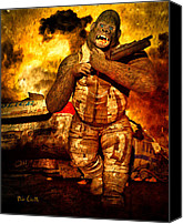 Comic Canvas Prints - Bad Monkey Canvas Print by Bob Orsillo