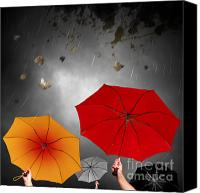 Winter Canvas Prints - Bad Weather Canvas Print by Carlos Caetano