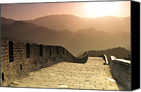 Absence Canvas Prints - Badaling Great Wall, Beijing Canvas Print by Huang Xin