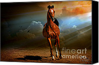 Photomanipulation Photo Canvas Prints - Badawi Canvas Print by Karen Slagle