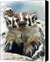 Southwest Canvas Prints - Badger - Guardian of the South Canvas Print by J W Baker