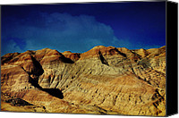 Textured Landscape Canvas Prints - Badlands Canvas Print by Laurie Search