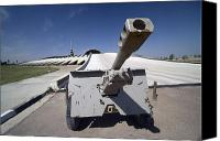 Commemorating Canvas Prints - Baghdad, Iraq - An Iraqi Howitzer Sits Canvas Print by Terry Moore