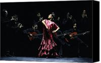 Dance Canvas Prints - Bailarina Orgullosa del Flamenco Canvas Print by Richard Young