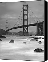 Absence Canvas Prints - Baker Beach Impressions Canvas Print by Sebastian Schlueter (sibbiblue)