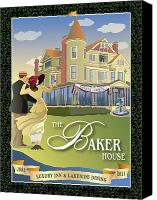 Lake Geneva Wisconsin Canvas Prints - Baker House Grand Opening  Canvas Print by Leslie Alfred McGrath
