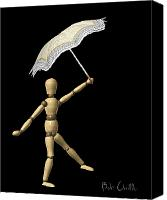 Umbrella Canvas Prints - Balance Canvas Print by Bob Orsillo