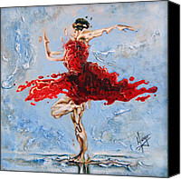 Contemporary Dance Painting Canvas Prints - Balance Canvas Print by Karina Llergo Salto