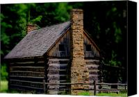 Old Cabins Canvas Prints - Balckberry Hollow Cabin Canvas Print by Kris Napier