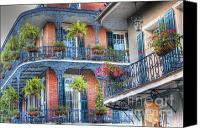 Balconies Canvas Prints - Balconies - New Orleans Canvas Print by Steve Sturgill
