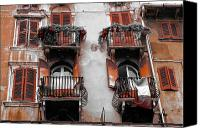 Verona Canvas Prints - Balconys of Verona Canvas Print by Greg Sharpe