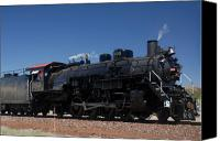 Baldwin Canvas Prints - Baldwin Mikado 2-8-2 No 4960 Steam Locomotive Williams Arizona Canvas Print by Brian Lockett