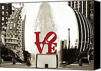 Love Park Canvas Prints - Ball of Love Canvas Print by Bill Cannon