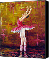Dancer Painting Canvas Prints - Ballerina Canvas Print by David G Paul