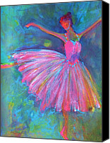 Dancers Canvas Prints - Ballet Bliss Canvas Print by Deb Magelssen