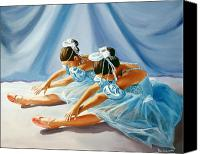 Paul Walsh Canvas Prints - Ballet Dancers Canvas Print by Paul Walsh