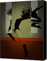 Dancing Digital Art Canvas Prints - Ballet Dancing Canvas Print by Irina  March