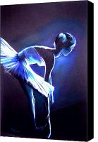 Dancer Canvas Prints - Ballet in Blue Canvas Print by L Lauter