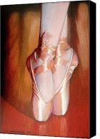 Ballet Art Canvas Prints - Ballet Canvas Print by Juan Jose Espinoza