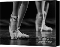 Ballet Slippers Canvas Prints - Ballet  Canvas Print by Ken Marsh