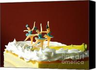Torte Canvas Prints - Ballet on Cake Canvas Print by Renee Trenholm