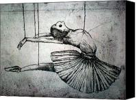 Old Reliefs Canvas Prints - Ballet Canvas Print by Rocio Chacon